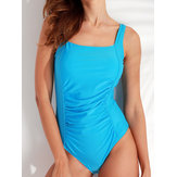 Plus rozmiar M-4XL Cover Belly Backless One Piece Swimwear