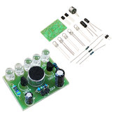 3 stks DIY stemgestuurde Melody Light 5 MM Markeer DIY LED Flash Elektronische Training Kit