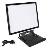 A3 LED Drawing Board Pad Set Stepless Dimming Ultra Thin Stencil Drawing Copy Digital Light Pad for Art Designer with Base
