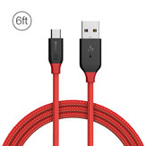 BlitzWolf® Ampcore BW-MC5 2.4A Micro USB Braided Data Cable 6ft/1.8m Samsung S7 Redmi Note 4
