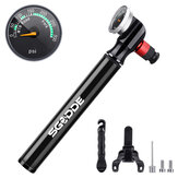 SGODDE 300 PSI Mini Bicycle Pump with Pressure Gauge Portable Bike Air Pump with Presta & Schrader for MTB Road Bike Mountain Bike