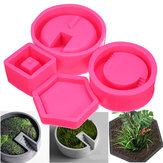 3D Silikon Flower Pot Mold Succulent Plant Betong Vase DIY Craft Mould Decorating
