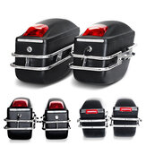 Motorcycle Large Luggage Bag Capacity Sidebags Hard Trunk With Light