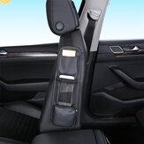Cuir PU multifonction avec support de poche de rangement pour articles divers pour téléphone Sac de rangement suspendu sur le côté pour siège de voiture