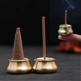 Dobbelformet Mini Copper Røgelse Cone Stick Brænder Holder Plate Censer Tower Bowl Meditation Decor