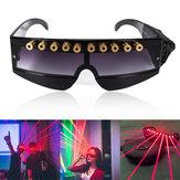 レーザーポインター用の650nmステージ赤色レーザーメガネクールDJレーザーメガネ