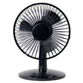 Loskii LF-525 USB Shaking Head Rotation Fan Ultra Quiet Household Appliances Office Desktop Fan 2 Speed Metal Design Quiet Operation