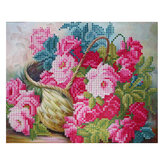 DIY 5D Diamond Painting Flower Basket Art Craft Embroidery Cross Stitch Kit Handmade Wall Decorations Gifts for Kids Adult