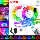 16FT/5M 32FT/10M 2835 RGB LED Strip Light+WiFi Controller Work with Google Alexa +Remote Control+Power Adapter
