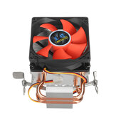 80mm Computer Cooling Fan Mini 2 Heatpipes PC CPU Cooler Computer Heatsink  for LGA 775/1155/1156 AMD AM2 AMD3
