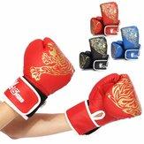 1 пара детские дышащие боксерские перчатки из искусственной кожи Перчатки амортизирующие детские боксерские тренировочные перчатки
