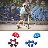 7UnidsNiñosCiclismoPatinajePatinaje Casco de Bicicleta Codo Rodilla Cojines de la mano Deportes Equipo de Protección