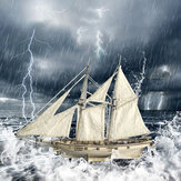 Деревянная собранная модель парусника DIY Западная классическая парусная модель Большая морская модель эпохи игрушки Деревянная модель На