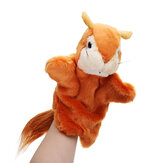 27 CM peluche Animal Squirrel Fairy Tales main marionnette Classic enfants Figure jouets en peluche