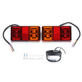 12V 16 LED Car Tail ضوء 4 LED License Plate Lamp for Truck Trailer Boat