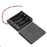 4 slots AA batterijbox Batterijhouderkaart met schakelaar voor 4xAA-batterijen DIY-koffer