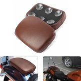 Rear Passenger Pillion Seat Cushion Pad 6/8 Suction Cups For Harley Cruiser Chopper
