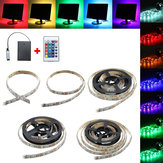 30/50/100/150 / 200CM 5050 RGB LED Luz de tira flexible + Remote Batería Powered Home Decor DC5V
