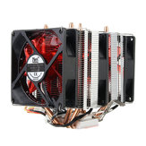 4 Heat Pipes Red LED 3 CPU Cooling Cooler Ventilador dissipador de calor para AMD AM2 / 2 + AM3 Intel LGA 1156