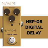 NAOMI Guitar Effect Pedal 25ms-600ms Delay DC 9V Adapter #NEP-08 True Bypass Mini Effect Pedal