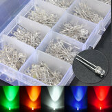 Brillante 300pcs 3mm color 5 surtido redonda clara LED diodos emisores de luz de la lámpara
