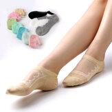 Women Hollow Out Cotton Low Cut Athletic Non Slip Sock