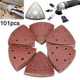 100pcs 60-240 grain feuilles triangle de ponçage papier avec plaque ponceuse meuleuse