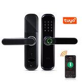 Умная дверь Tuya WiFi с отпечатком пальца Замок Inteligent Digital Door Замок Электронный пароль RFID Приложение для карты Разблокировка дома Замок