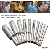 Drillpro DB-HS3 10pcs Diamond Hole Saw Drill Bit Set 3mm-13mm Tile Ceramic Glass Porcelain Marble Hole Saw