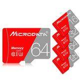 MicroData 16GB 32GB 64GB 128 GB Classe 10 Cartão de memória TF de alta velocidade máxima 80Mb / s TF com adaptador de cartão para celular Tablet GPS Câmera Carro DVR Drone