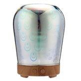 ليد الضروري النفط رائحة الناشر الطاووس الزجاج بالموجات فوق الصوتية المرطب الروائح 3D تأثير