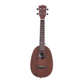 Andrew 23 Inch All Zebrano Plywood Ukulele for Guitar Player Birthday Gifts