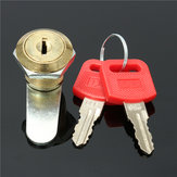 16mm Cam Lock Door File Cabinet Letter Mail Box Drawer Cupboard with 2 Key