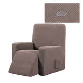 Non-slip Massage Sofa Cover Removable Stretch Fleece Recliner Rocking Chair Protector Pure Color All-inclusive Elastic Seat Slipcover for Home Office