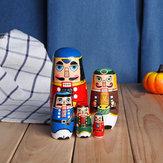 ロシアの木製ネストMatryoshkaの人形手作りの装飾クリスマスの贈り物