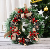 32cm Christmas Wreath Handmade Pendant Garland Shopping Mall for 2020 Christmas Home Decor Tree Door Decoration Wreath