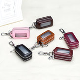 Genuine Leather Car Key Case for Men Women