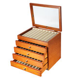 50 Pieces Fountain Pens Holder Wooden Pen Display Case With Antique Color Container 5 Layer