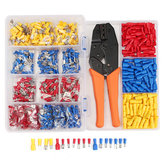 900Pcs Electrical Wire Connectors Terminals with Crimping Plier Assorted Set