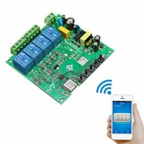 AC 220 V 10A Controle Smart Switch Point Remote Relais 4 Kanaals WiFi Module Zonder Shell