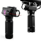 2 in 1 XANES TL01 650nm Red Laser Sight Foregrip Laser Pointer Flashlight Type Rail Mount Locator