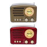 Rádio retro portátil AM FM SW Alto-falante bluetooth Slot para cartão TF recarregável