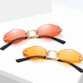 Womens Universal UV Resistence Hexagon Frameless Sunglasses