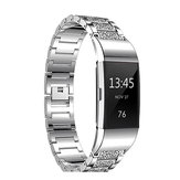 Replacement Diamond Stainless Steel Replace Watch Strap Banda Para Fitbit Charge 2