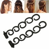 Waterfall Twist Roller Back Hair Styling Clip Stick Bun Maker Braid Tool Hair Accessories