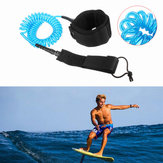 IPRee® 10ft 7mm Coiled Surfboard Leash Surfing Stand UP Paddle Board String Leg Rope
