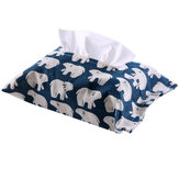 Cotton And Linen Paper Towel Set Cloth Tissue Box Bag