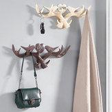 愛ヴィンテージ鹿アントラーウォールハンガー装飾コートフックと帽子ラック4色ホルダー