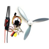 Hobbywing Skywalker 30A ESC + 1400KV 2212 Motor + 3-Blatt 8060 Propeller Power Combo RC Flugzeug DIY Set