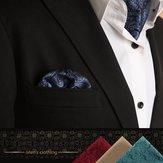 Lenço de moda para homens Terno Estilo Ocidental Dot Men Paisley Bolso Quadrado Lenços de Gravata